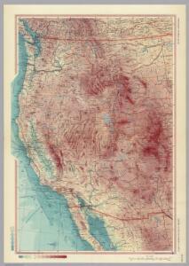United States of America - West.  Pergamon World Atlas.