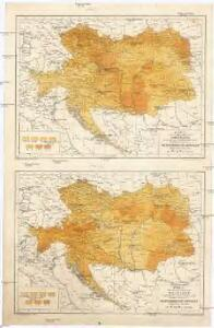 Karte des Verhältnisses vom Ackerland ; Karte des Verhältnisses vom Waldland