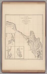 Facsimile:  Vancouver's Chart of Coast of Northwest America.