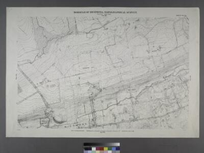 Sheet No. 54. [Includes Mill Road, Sea View Avenue, Richmond Hill, Meisner's Hill amd Elm Avenue.]; Borough of Richmond, Topographical Survey.