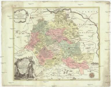 Carte géographique du comté de Lippe