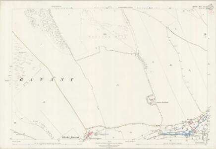 Wiltshire LXX.6 (includes: Broad Chalke; Ebbesbourne Wake) - 25 Inch Map