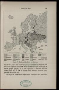 Karte V: Nationalitätenkarte von Europa