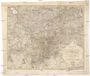 Karte von der gefürsteten Grafschaft Tyrol