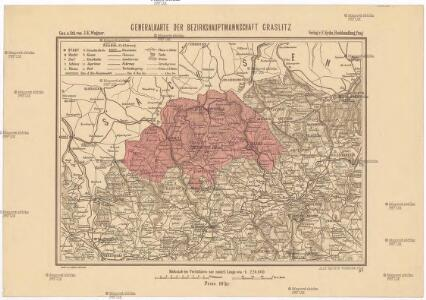 Generalkarte der Bezirkshauptmannschaft Graslitz