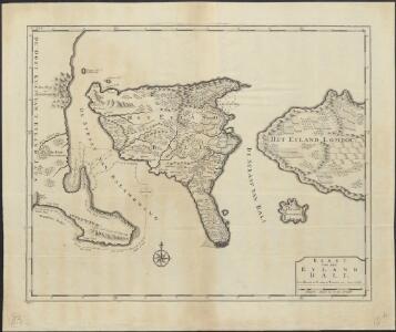 Kaart van het eyland Bali