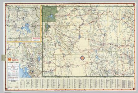 Shell Highway Map of Wyoming.