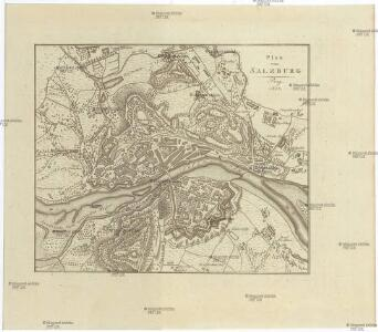 Plan von SALZBURG