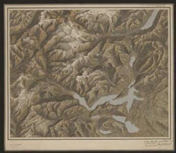 [Reliefkarte der Centralschweiz]