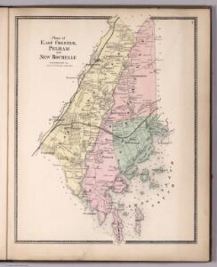Plan of East Chester, Pelham and New Rochelle, Westchester County, New York.