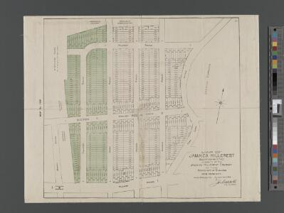 Map of Jamaica Hillcrest, sections C and D, property of the Jamaica Hillcrest Company in the Borough of Queens.