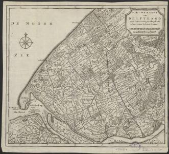 Nieuwe kaart van Delftland