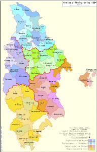 Kreise der Rheinprovinz 1864