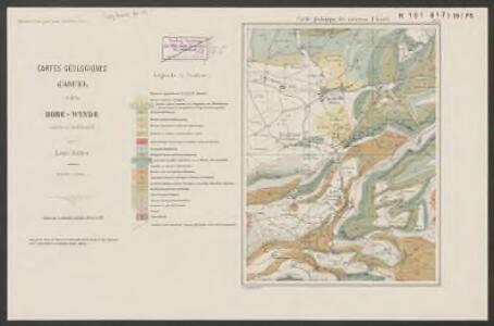 Carte géologique des environs d'Asuel