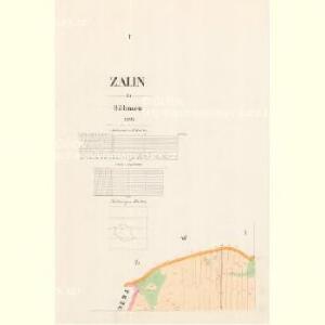 Zalin - c9114-1-001 - Kaiserpflichtexemplar der Landkarten des stabilen Katasters