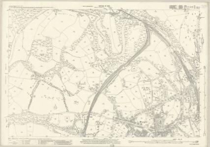 Lancashire CXII.15 (includes: Bredbury And Romiley; Hazel Grove And Bramhall; Marple) - 25 Inch Map