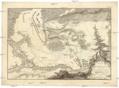 Bataille de Gros-Jaegerndorf, en Prusse, gagnée par l'armée russe, aux ordres du feldmaréchal d'Apraxin, sur les troupes prussienes commandées par le feldmaréchal de Lewald, le 30. aout, 1757