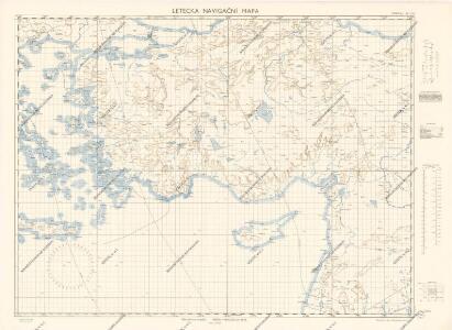Letecká navigační mapa