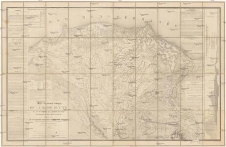 Carte hydrographique de la Basse Égypte et d'une partie de l'isthme de Suez