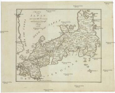 Charte von JAPAN mit seinen VII Provinzen