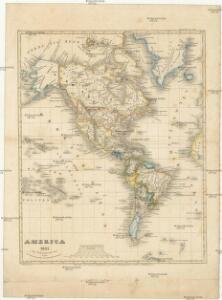 America 1841 mit Benutzung der neuesten Vermessungen
