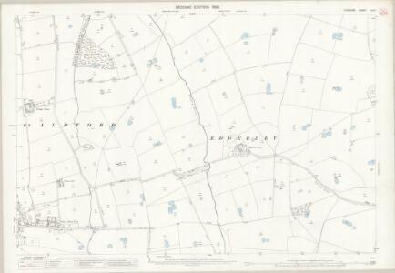 Cheshire LIII.4 (includes: Aldford; Churton by Aldford; Churton by Farndon; Coddington; Edgerley; Kings Marsh) - 25 Inch Map
