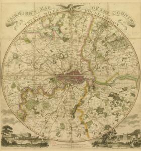 Fairburn's Map of the Country twelve miles round London. Second Edition