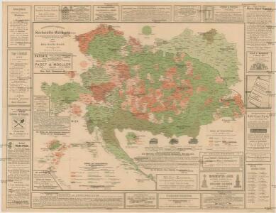 Oesterreichisch-ungarische Reichsraths-Wahlkarte