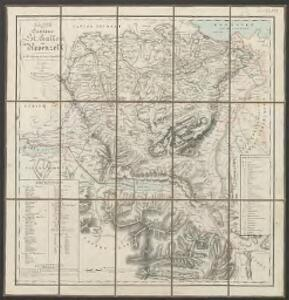 Karte der Cantone St. Gallen und Appenzell