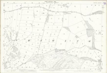 Lancashire XVI.11 (includes: Birkrig Common; Pennington; Ulverston; Urswick) - 25 Inch Map