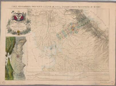 Carte Géographique pour servir à l'étude du canal interocéanique