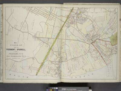 Plans of Parts of Piermont, Sparkill, and Palisades,  N.Y. and Harrington, N.J.