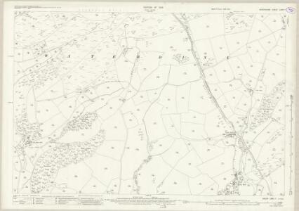 Shropshire LXXVI.1 (includes: Clun; Llanfair Waterdine) - 25 Inch Map
