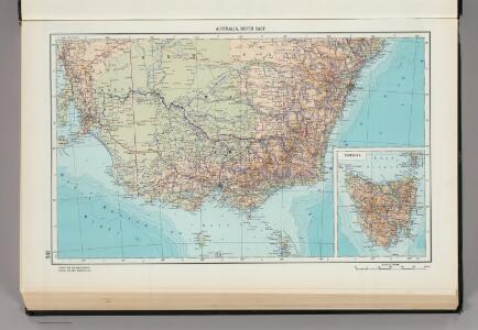 241.  Australia, South East.  Tasmania.  The World Atlas.