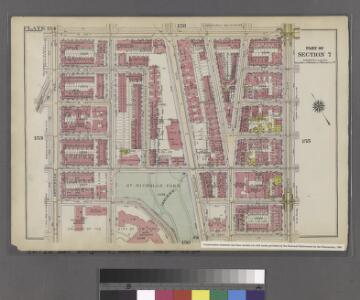 Plate 154: Bounded by W. 145th Street, Eighth Avenue, W. 139th Street, (St. Nicholas Park, College of the City of New York) and Amsterdam Avenue.