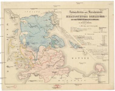 Nationalitäten- und Sprachenkarte des Herzogthums Schleswig