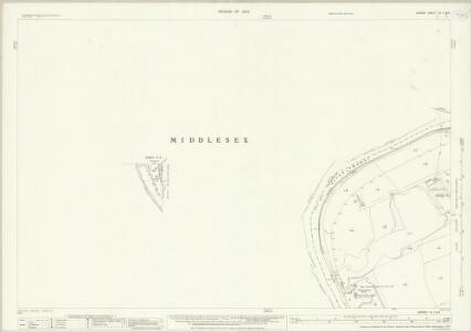Surrey VI.7 & 3 (includes: Ham; Heston and Isleworth; Twickenham St Mary The Virgin) - 25 Inch Map