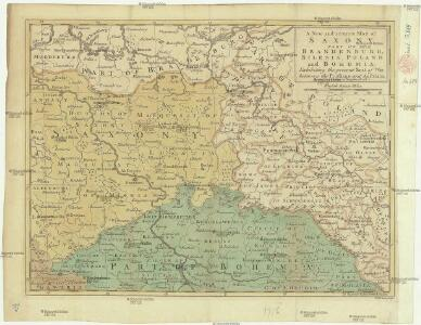 A new and accurate map of Saxony, part of Brandenburg, Silesia, Poland and Bohemia