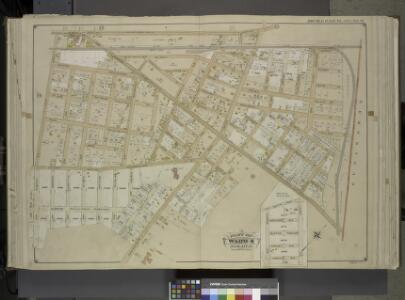 Queens, Vol. 1, Double Page Plate No. 16; Part of     Ward 4; Jamaica; [Map bounded by Jericho Turnpike, Hempstead and Jamaica Plank   Road, First Ave., Queens Boulevard, 2nd Ave., 3rd Ave., 4th Ave., 5th Ave.,      Sherwood Ave., 6th Ave., Franklin A