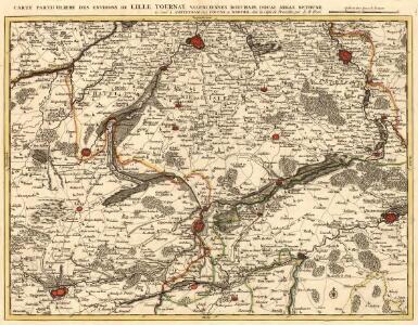 Carte Particuliere des Environs de Lille Tournay, Valenciennes, Bouchain, Douay, Arras, Bethune