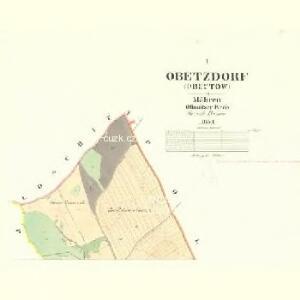 Obetzdorf (Obectow) - m2092-1-001 - Kaiserpflichtexemplar der Landkarten des stabilen Katasters