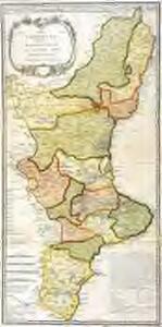 Mapa del reyno de Valencia