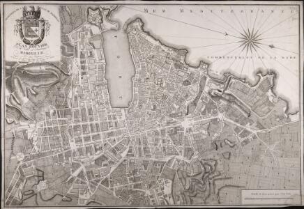 Plan routier de la ville et faubourg de Marseille