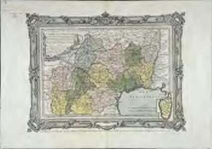 Carte des départemens du Lot, de l'Aveiron, de la Lozere, de l'Ardeche, du Gers