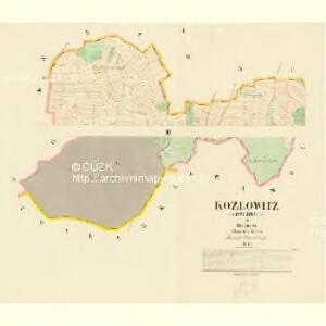 Kozlowitz (Kozlowice) - c3456-1-001 - Kaiserpflichtexemplar der Landkarten des stabilen Katasters