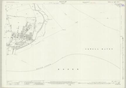 Suffolk LXXXIX.7 (includes: Felixstowe; Harwich; Shotley; Trimley St Mary) - 25 Inch Map