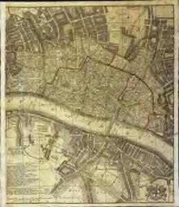 A new and exact plan of the city of London and suburbs thereof, 2
