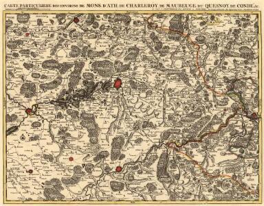 Carte Particuliere des Environs de Mons. D'Ath, de Charleroy, de Maubeuge du Quesnoy de Condé &c.