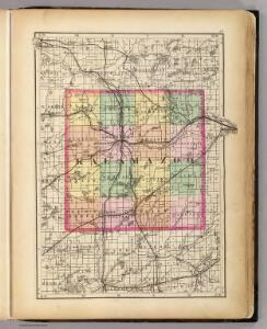 (Map of Kalamazoo County, Michigan)