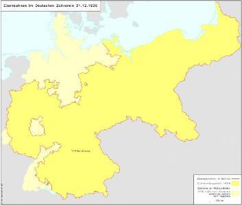 Eisenbahnen im Deutschen Zollverein 31.12.1836